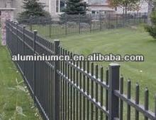 Anodized aluminium stair railing profile aluminium fence /Aluminium Fence for Protection