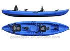 Three persons family fishing kayak/boat