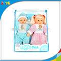 A264666 de plástico del muchacho y de la muchacha muñecas preciosa artesanía Musical del bebé de la muñeca