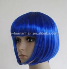 bright blue wholesale fashion bob style short cosplay wig costume wig party wigs