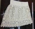 venta caliente las niñas falda de encaje blanco