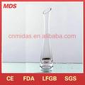 elegante schräge Mund hohe vase glas