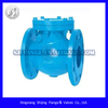 DIN cast iron swing check valve with flanged end