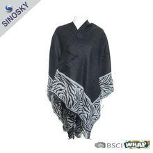 100% acrylic woven pattern pashmina shawl
