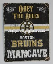 retro metal sign tinplate,ice hockey team poster