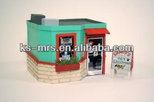 2014 attractive DIY paperhouse doll wooden house wholesale hot sale kids toy
