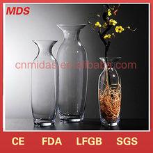 Different types transparent cheap glass vase