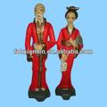 cerâmica japonesa de menino e menina de figurinhas
