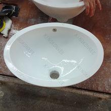 Small round solid surface wash bowls / hand wash basin