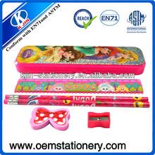 kids plastic pencil case /cute pencil case /snow white princess pencil case