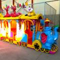 2014 nuevo y de alta calidad del parque de atracciones paseo en elefante tren eléctrico de juguete de madera piezas del tren