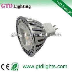 Cost efficient aluminum 12v 3w mr16 led light bulb for commercial use