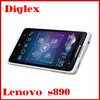 In stock original lenovo s890 5.0inch android 4.0 mtk6577 dual core 1GB RAM 4GB ROM 8.0Mp 3g gps with wholesale price