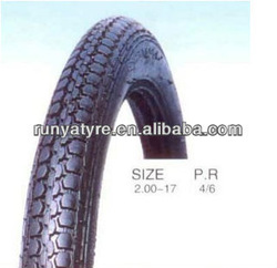 china high quality and cheap motorcycle tyre size 2.00-17