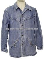 Mens Western Style Denim Jacket
