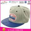 custom snapback linen cap/snakeskin brim snapback