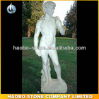 Hand Carved White Marble Nude Man Sculpture