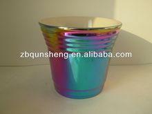 golden ceramic flowerpot