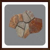 meshed cobble stone flagstone