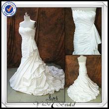 JJ0095 Mermaid Ruffle Real Sample Long Train Wedding Dress