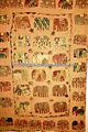 2014 collection printemps!!! Multi patchwork coloré design éléphant indien à la main couvre