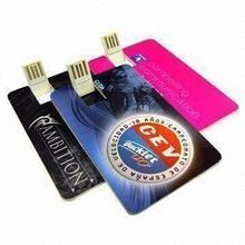 Metal Credit card shape usb flash drive in 2GB 4GB 8GB 16GB, cheap wholesale pen drive, usb thumb drive manufacture