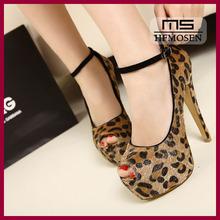 S4274 wholesale fashion women shoes 2013 women's dress shoes party shoes leopard platform shoes nightclub high heels