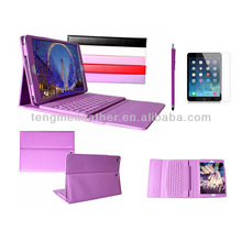 Wireless Movable Bluetooth Keyboard Case For iPad Air,Leather Case Flip Cover For iPad Air 5