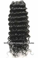 Pure hair extension grade aaaaaaaa natural Italian curly virgin human hair