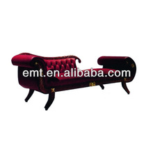 Hot sale left red chaise lounge with soft back(EMT-LC11)