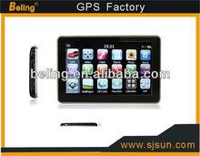 5 Inch Car GPS Navigation Av In HD Touchscreen Bluetooth Build in 4G Memory