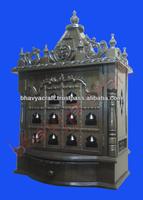 wooden temple ,altar,mandir,hindu god statue