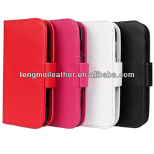 PU Leather Wallet Stand Case Cover For Samsung Galaxy Trend S4,For Samsung Galaxy S4 Pocket Projector