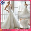 kb13045a nuevo modelo strapless acanalada de encaje sexy vestidos de novia
