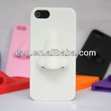 100% silicon cover for iphone 4 4S 5 5S Big nose silica gel set