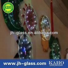 KAHO hot sale high quality 4+3mm flashing led glass