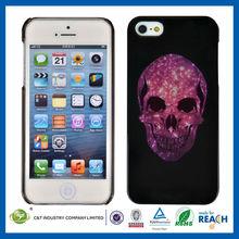 C&T Light skull silver foil case for iphone 5 s cases