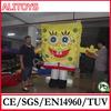 small size human cartoon,inflatable cartoon model,inflatable spongebob cartoon