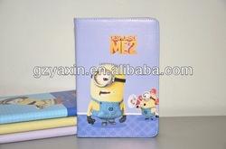 Despicable me case,Despicable Me 2 Minion Leather Case Smart Cover For iPad 4 3 2