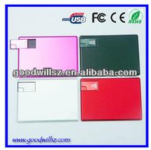 High quality Credit card usb flash drive usb 2.0 card type usb flash d...