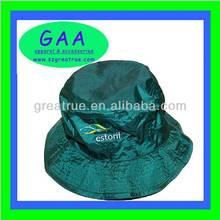 Stylish embroidered bucket hat custom foldable nylon bucket hat