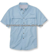 Mens Custom designs light Blue Shirt for Fishing wears available in all sizes