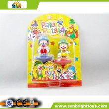 Plastic promotional funny spinning top