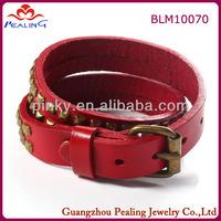 fashion genuine leather watch wrist band bracelet
