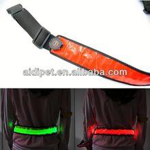 hot selling LED flashing safety leather flip case with belt clip