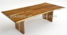 natural wood slab dining tables