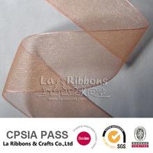 """1"""" Orange Sheer Organza ribbon"""