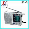 Kk-9 tascabile fm/tv/am/sw1-7 radio classico