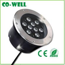9w rgb led underground lights,2 Years Warranty,AC85-265V/DC12V/24V 100-110LM/W High lumens