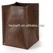 modern simplicity innovative waste bin leather material